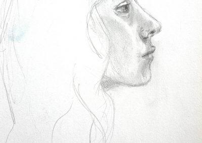 Anna, sanguine, 16 x 21,5 cm