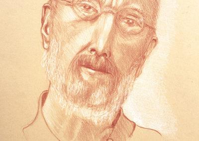 Patrick, sanguine, wit gehoogd, 21 x 30 cm
