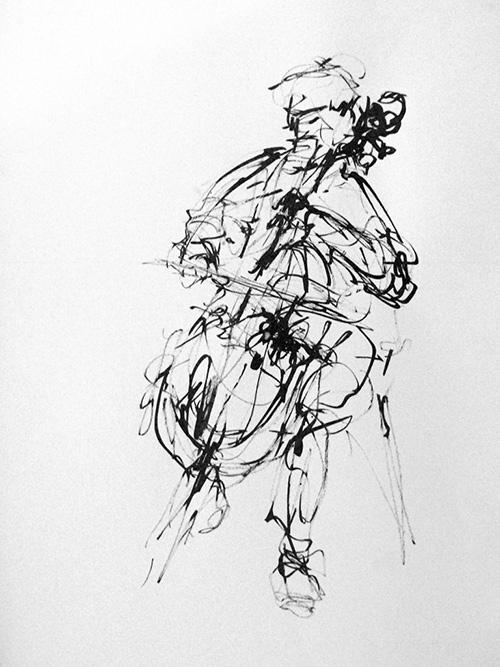 cellist-christine-brandenburg-tekening