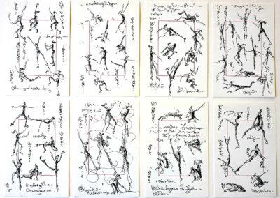 Sarah 6 schetsboek bladen elk 10 x 15 cm.