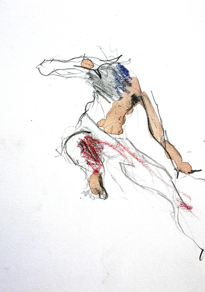 7-Indiase-Danser-gemengde-technieken-10x15-cm--Christine-Brandenburg