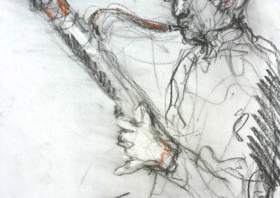 Kees, pastelkrijt, 24 x 31 cm