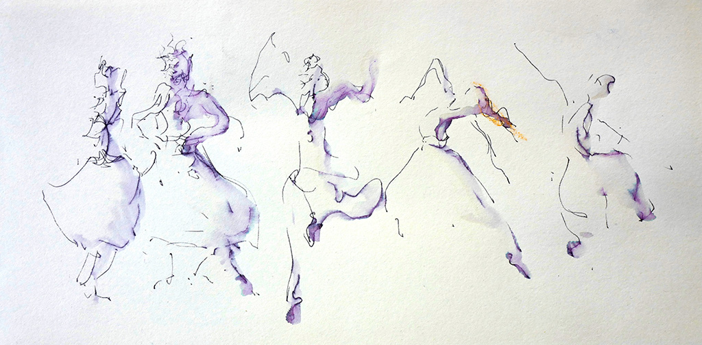Scapino I, gemengde techniek, 10 x 32 cm